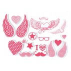 Stempelki do tkanin - serca i skrzydła