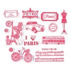 Stempelki do tkanin - Paryż