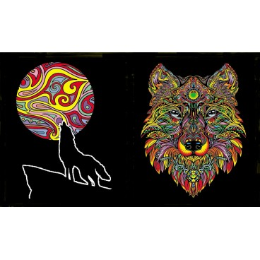 Teczka Colorvelvet - Wilk