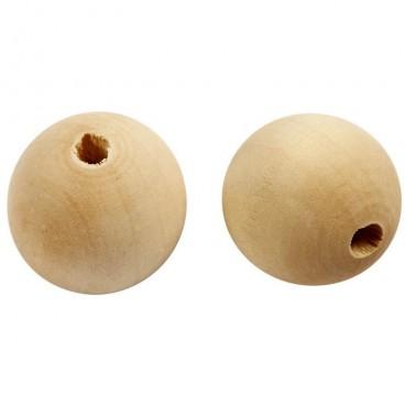 Drewniane korale, 25mm