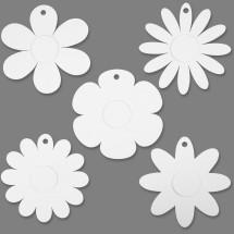 Kwiatki z kartonu do malowania