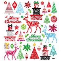 Naklejki świecące motyw świąteczne prezenty