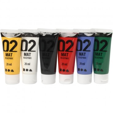 Farby akrylowe mat 6x20ml