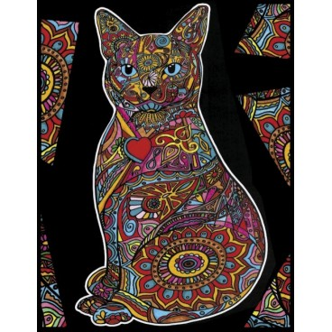 Malowanka Colorvelvet - kot siedzący