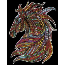 Malowanka Colorvelvet - koń wicher