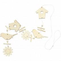 Ornamenty drewniane - zestaw