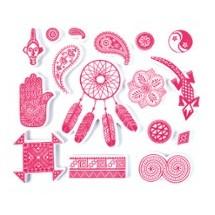 Stempelki do tkanin - etniczne wzory