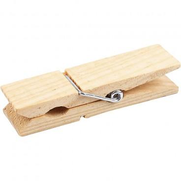 Spinacz drewniany do prania gruby