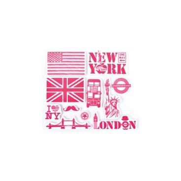 Stempelki do tkanin - Londyn i NY