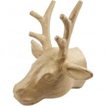 Papier mache głowa jelenia