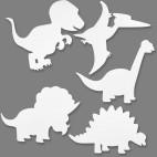 Dinozaury z papieru do malowania