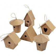 Papier-mache domek dla ptaszków mini