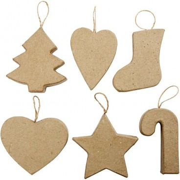 Papier-mache świąteczne symbole