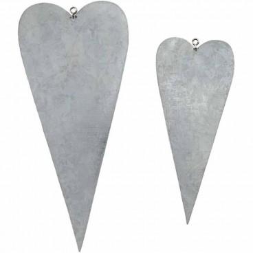 Metalowe serca 6szt